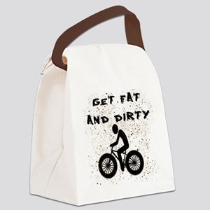 FAT BIKE-GET FAT AND DIRTY Canvas Lunch Bag