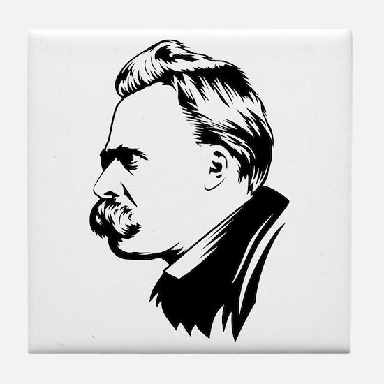 Cute Nietzsche Tile Coaster