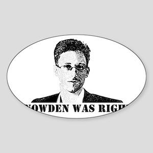 #SnowdenWasRight Sticker