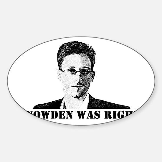 #SnowdenWasRight Decal
