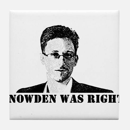 #SnowdenWasRight Tile Coaster