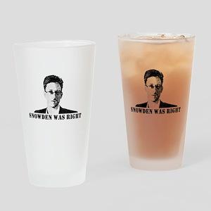 #SnowdenWasRight Drinking Glass
