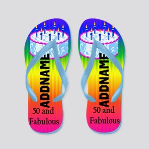 Trendy 50th Flip Flops