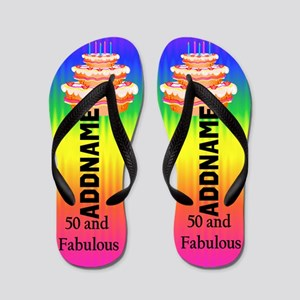 Fantastic 50th Flip Flops