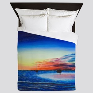 Sunrise at the Snook Queen Duvet