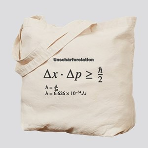 Uncertainty principle: Heisenberg: science Tote Ba