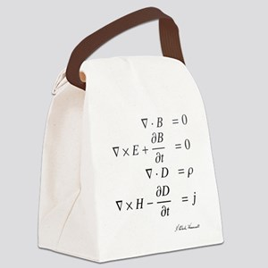 Maxwell's equations: science Canvas Lunch Bag