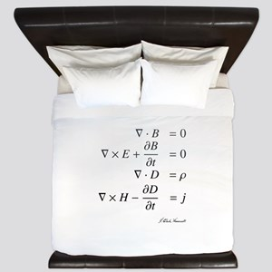 Maxwell's equations: science King Duvet