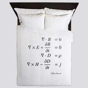 Maxwell's equations: science Queen Duvet