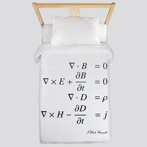 Maxwell's equations: science Twin Duvet