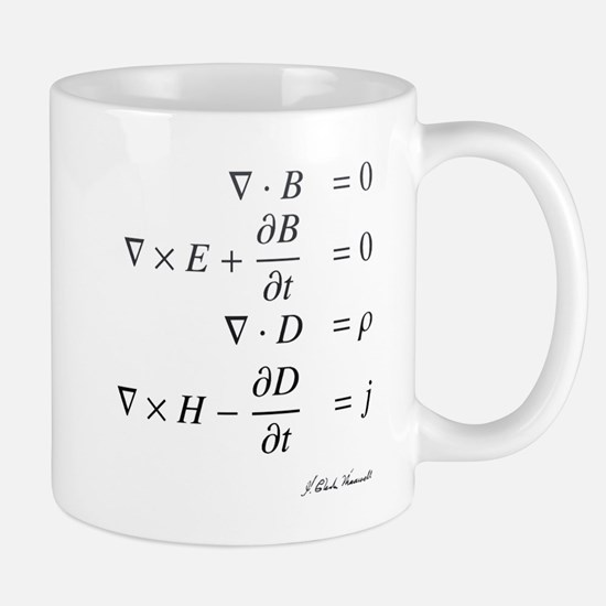 Maxwell's equations: science Mugs