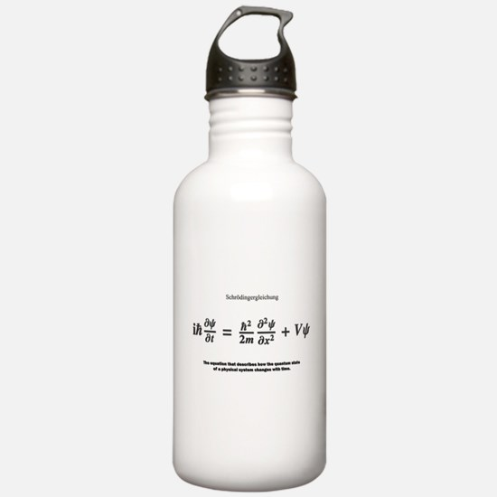 Schrodinger equation: science Water Bottle