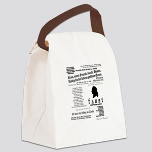 Faust: Johann Wolfgang von Goethe Canvas Lunch Bag