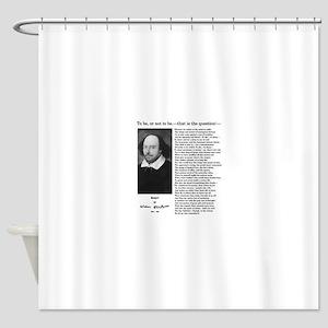 Hamlet: William Shakespeare Shower Curtain