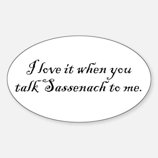 TalkSass2Me Sticker (Oval)