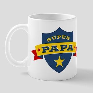 Super Papa Shield Mug