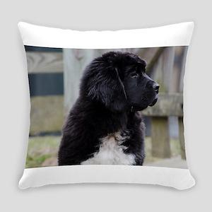 Landseer Newfie Puppy Everyday Pillow