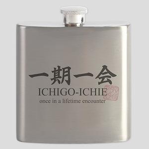 Ichi-go ichi-e: Japanese quote: yojijukugo Flask