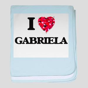 I Love Gabriela baby blanket
