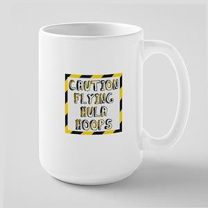 Caution Flying Hula Hoops Mugs