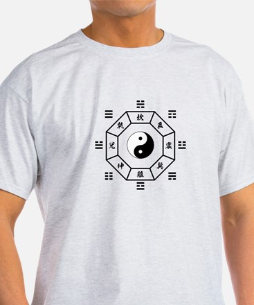 Bagua: eight trigrams used in Taoist cosmology T-S