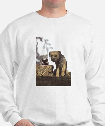 Border Terrier and Rat Sweatshirt