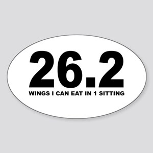 26.2 Wings I can Eat in 1 Sitting Sticker