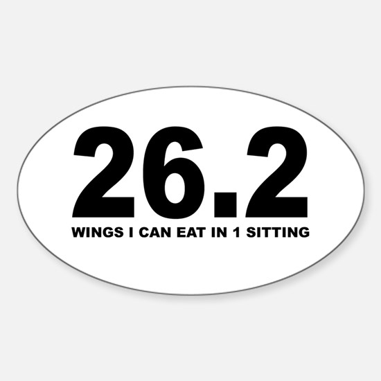 26.2 Wings I can Eat in 1 Sitting Decal