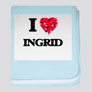 I Love Ingrid baby blanket