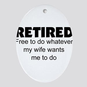 Retired Ornament (Oval)