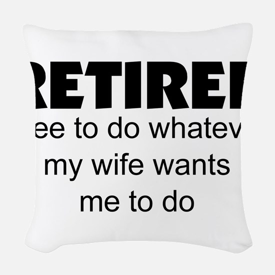 Retired Woven Throw Pillow
