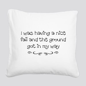 Injury Square Canvas Pillow