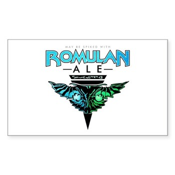 Romulan Ale Rectangle Sticker