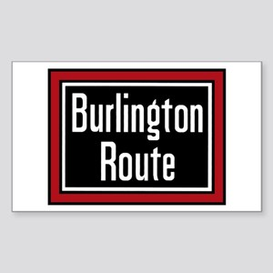 Burlington Route Rectangle Sticker