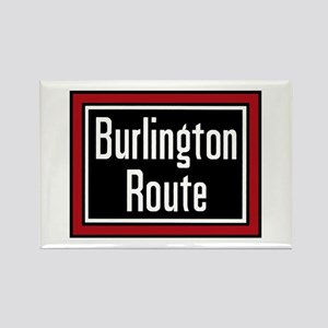 Burlington Route Rectangle Magnet