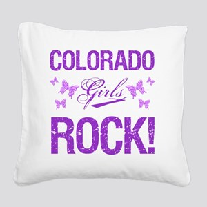 Colorado Girls Rock Square Canvas Pillow