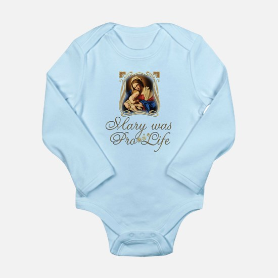 Mary was Pro-Life (vertical) Body Suit