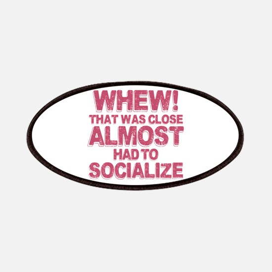 Introvert Social Anxiety Humor Patch