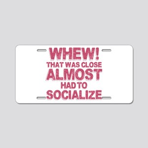 Introvert Social Anxiety Hu Aluminum License Plate