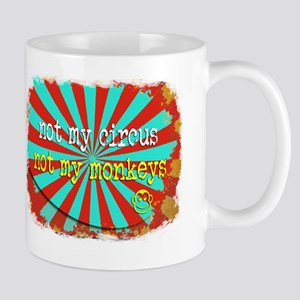 Not My Circus Not My Monkeys Shredded Mug
