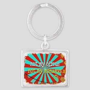 Not My Circus Not My Monkeys Shredded Keychains