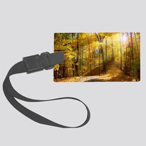 Fall colors Large Luggage Tag