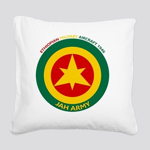 Ethiopian Military Aircraft I Square Canvas Pillow