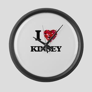 I Love Kinsey Large Wall Clock