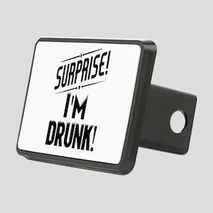 Surprise I'm DRUNK Rectangular Hitch Cover