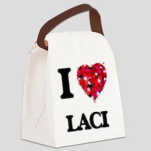 I Love Laci Canvas Lunch Bag