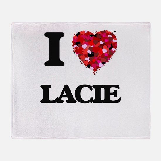 I Love Lacie Throw Blanket