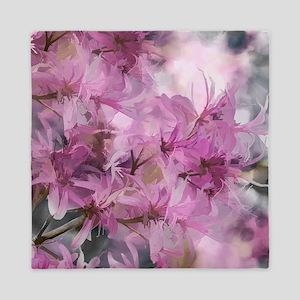 Magenta Floral Pattern Queen Duvet