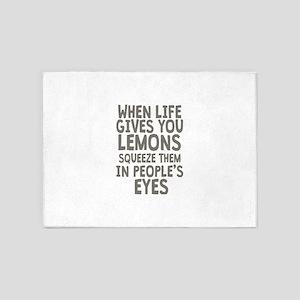 Life Gives You Lemons 5'x7'Area Rug