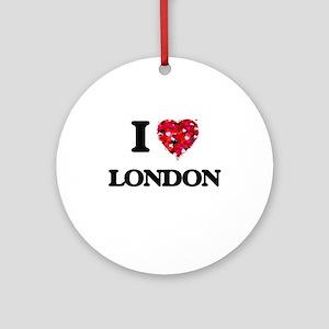 I Love London Ornament (Round)